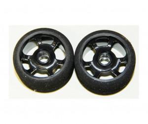 BSR 1/12 Front Foam Tires Magenta 35Sh (2pcs/Black Rims)