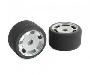 JFT 1/12 Front Tires Magenta A foam (2pcs/Grey Rims)