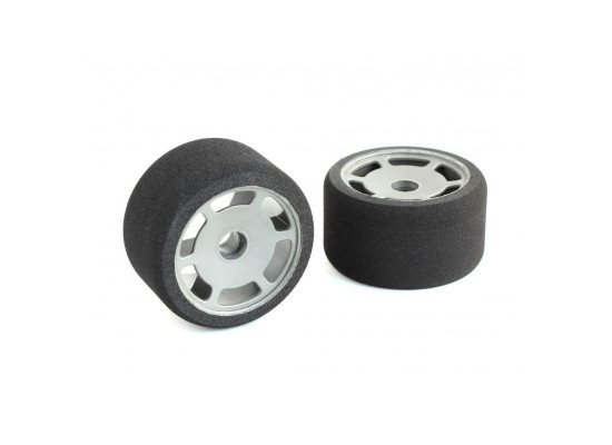 JFT 1/12 Front Tires Medium S foam (2pcs/Grey Rims)