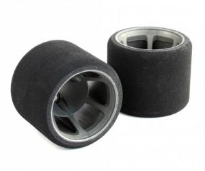 JFT 1/12 Rear Tires Soft S foam (2pcs/Grey Rims)